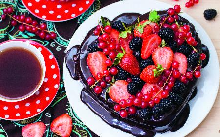 Tort w kształcie serca