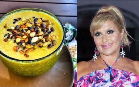 Katarzyna Skrzynecka gotuje light: zobacz przepis na jej zupę-krem z ogórków małosolnych